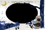 酉年年賀状テンプレート素材 透過性PNG