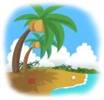 椰子の木のある海岸