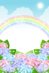 虹と紫陽花