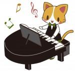 ピアノを演奏する猫