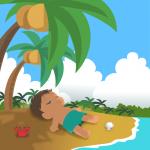 常夏の島で昼寝