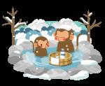 猿と温泉_冬